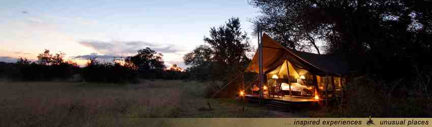 Luxus Camp in Afrika: Zelt Safari zum Kruger National Park in Südafrika